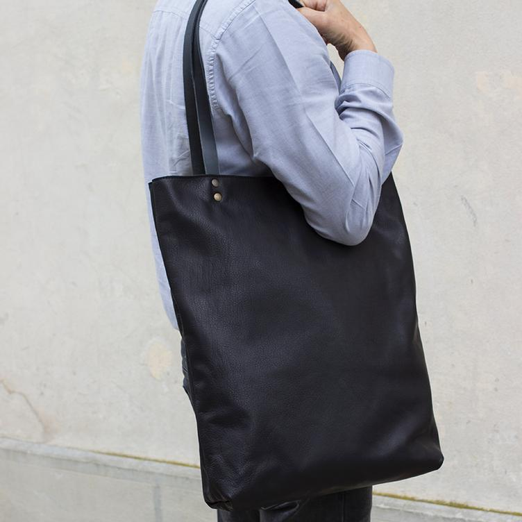 Leder Shopper Bag - 1