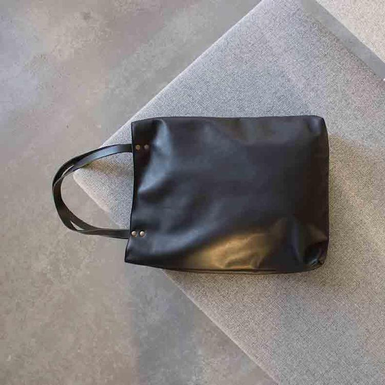 Leder Shopper Bag - 3