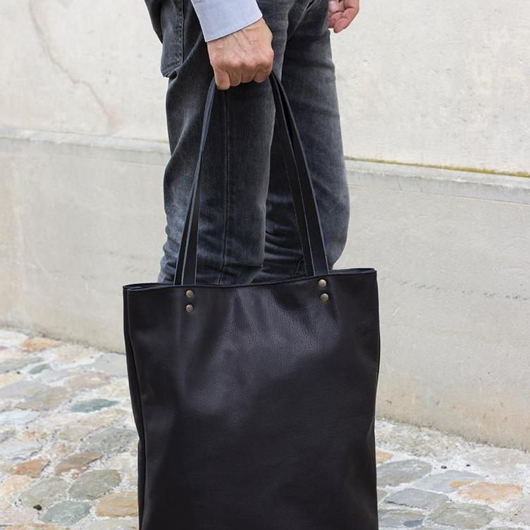 Leder Shopper Bag