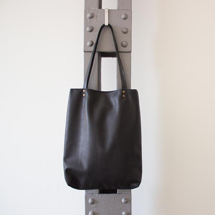 Leder Shopper Bag - 2