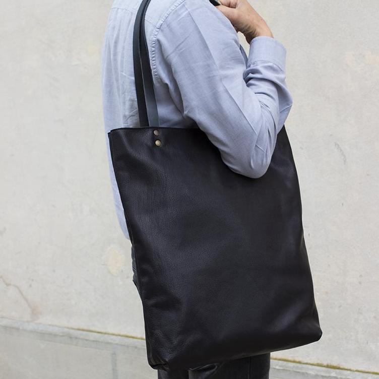Leder Shopper Bag gross